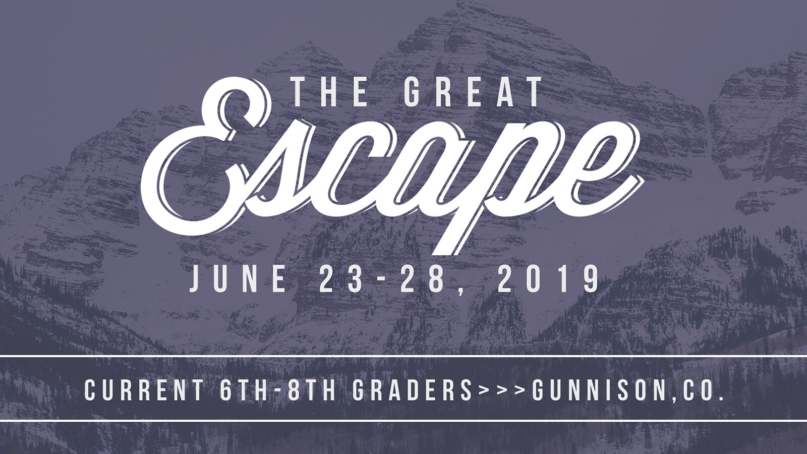 REGISTRATION: The Great Escape 2019