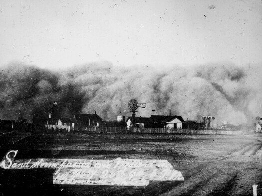 Midland Caught in a Sandstorm, February, 1894