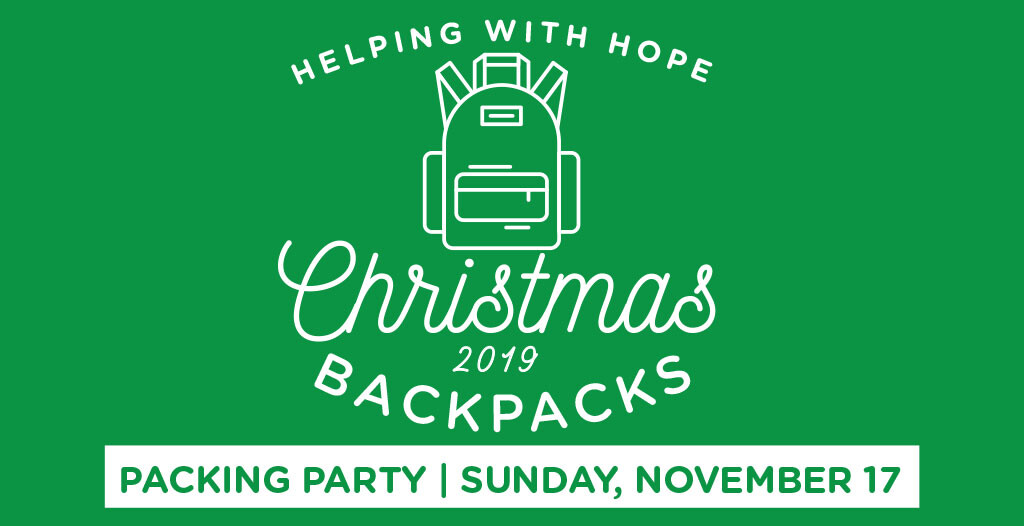 Christmas Backpacks: Packing Party